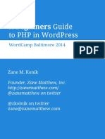 Beginners Guide to Php in Wordpress