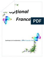 proiect la franceza