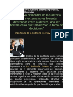 Auditoria Interna vs Auditoria Externa