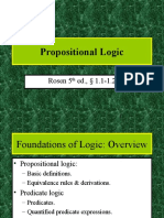 1. Propositional Logic