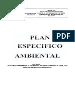 Plan Especifico Ambiente Soinca Sidor