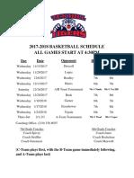 2017-18 thms basketball schedule