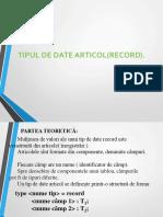 Tipul de Date RECORD2