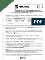PROVA 01  - ASSISTENTE TECNICO DE TELECOMUNICAÇOES