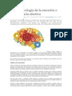 Neuropsicología de La Emoción o Neurociencia Afectiva