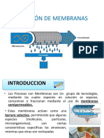 Aplicación de Membranas