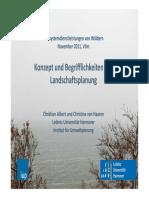 ALBERT, Christian Et All Konzepte Und Begrifflichkeiten Der Landschaftsplanung