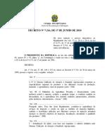Decreto Nº 7.216, De 17 de Junho de 2010