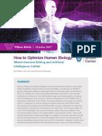 How to Optimize Human Biology