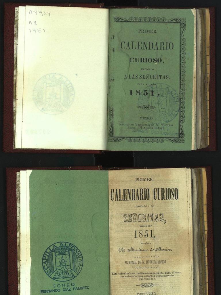 Calendario 1951.Calendario Curioso