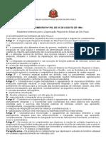 Lei Complementar Nº 760, De 01 de Agosto de 1994 - Assembleia Legislativa Do Estado de São Paulo