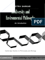 Sahotra Sarkar Biodiversity and Environmental Philosophy an Introduction Cambridge Studies in Philosophy and Biology 2005