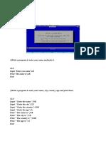 Qbasic Programm Examples