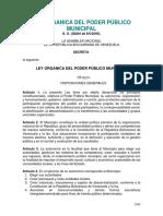 Ley Orgánica Del Poder Público Municipal