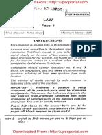 UPSC Main 2012 Optional Subject Law Paper I Www.upscportal.com