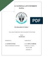 PLURALISM IN INDIA CNLU