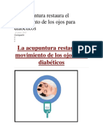 La Acupuntura Restaura El Movimiento de Los Ojos Para Diabéticos