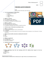Networks Questionnaire