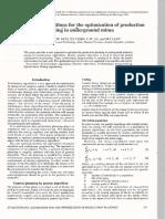 Evolutionary Algorithms for the Optimization of Production Planningin Uriberground Mines
