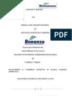 Vaibhav Project Report on Bonanza Portfolio