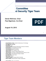 Privacy and Security Tiger Team - August 19 2010