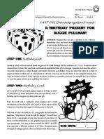 wonder - part one - summative project - characterization protagonist present  pdf 2