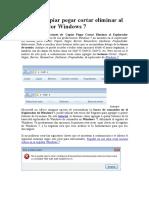 Agregar Copiar Pegar Cortar Eliminar Al Explorador Windows 7