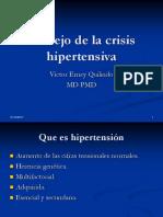 Manejo de La Crisis Hipertensiva