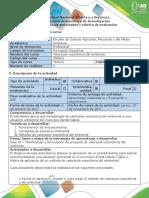 Elaborar planificación y formulación del proyecto