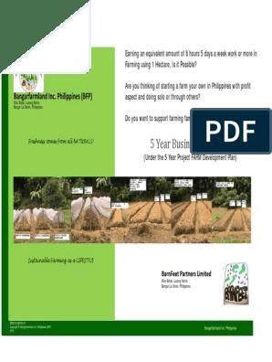 5 Year Business Plan | Organic Farming | Farms