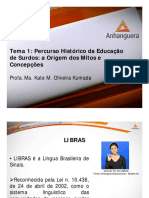 VA Lingua Brasileira de Sinais Aula 01 Tema 01
