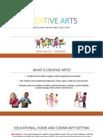 creative arts presentation