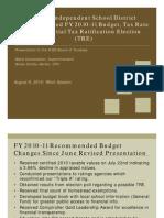 Austin ISD Budget Presentation 2010-11