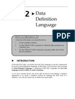 Topic2 Data Definition Language