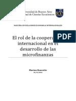 El Rol de La Coop.inter. en Las Microfinanzas