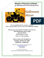 Chinese Chamber of Commerce of Hawaii - Halloween Mixer & Membership Meeting