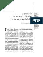 Butler Entrevista a Proposito de Las Vidas Precarias_Cordoba