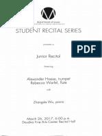 junior recital program