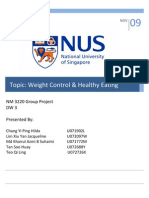 Weight Control and Healthy Eating for Female Undergraduates in Singapore