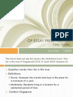 Gp Essay Presentation1