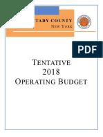 Tentative Schenectady County budget