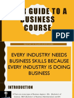 Your Guide to a Business Course