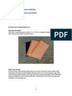 Format Asas Sebuah Buku Log