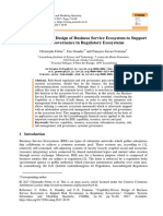 Capability-driven Design of Business Service Ecosystem to Support Risk Governance in Regulatory Ecosystems