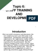 Topic 6 training and development