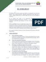 El Embargo (Resumen)