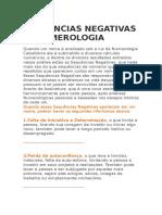Sequencias Negativas - Numerlogia Cabalistica