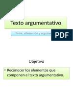 Texto Argumentativo 6to Básico
