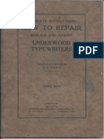 Underwood Repair Manual