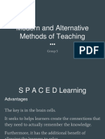 Modern and Alternative Methods of Teaching